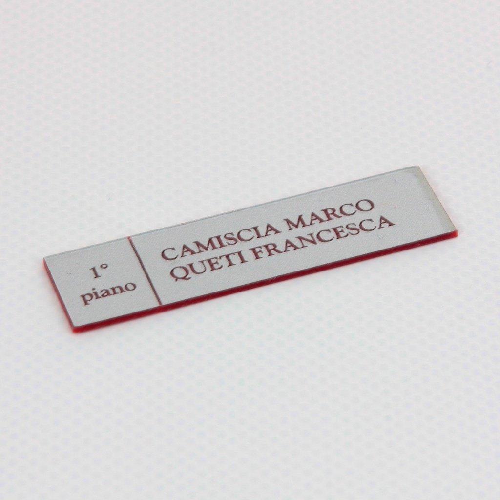 Targhetta Cassetta Postale.Targhetta Per Posta Citofono Grafidea Stampa Pubblicita